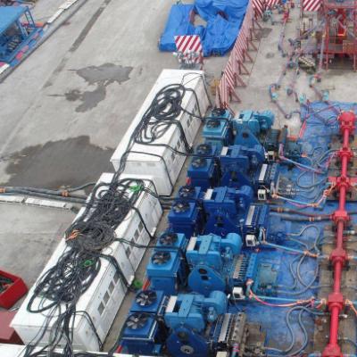 6000HP电动压裂泵泵注服务