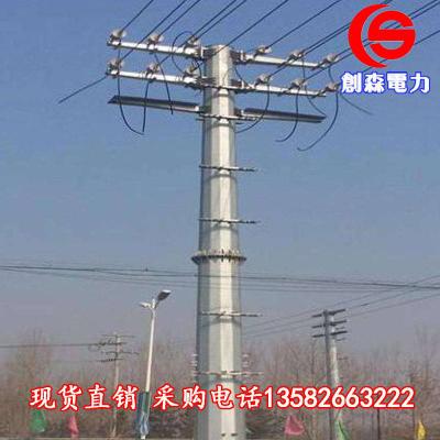 电力终端杆直角杆 光伏基础钢杆 双回路耐张塔